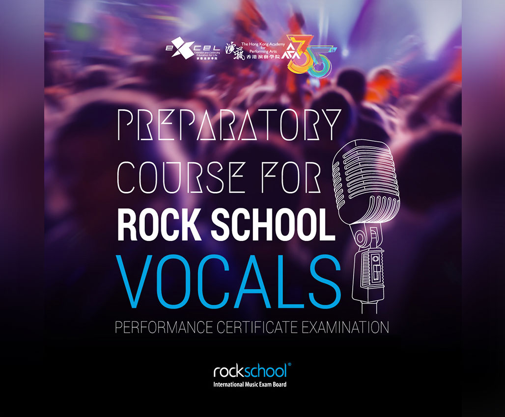 Preparatory Course for Rock School Vocals Performance Certificate Examination (Age 10 or above)